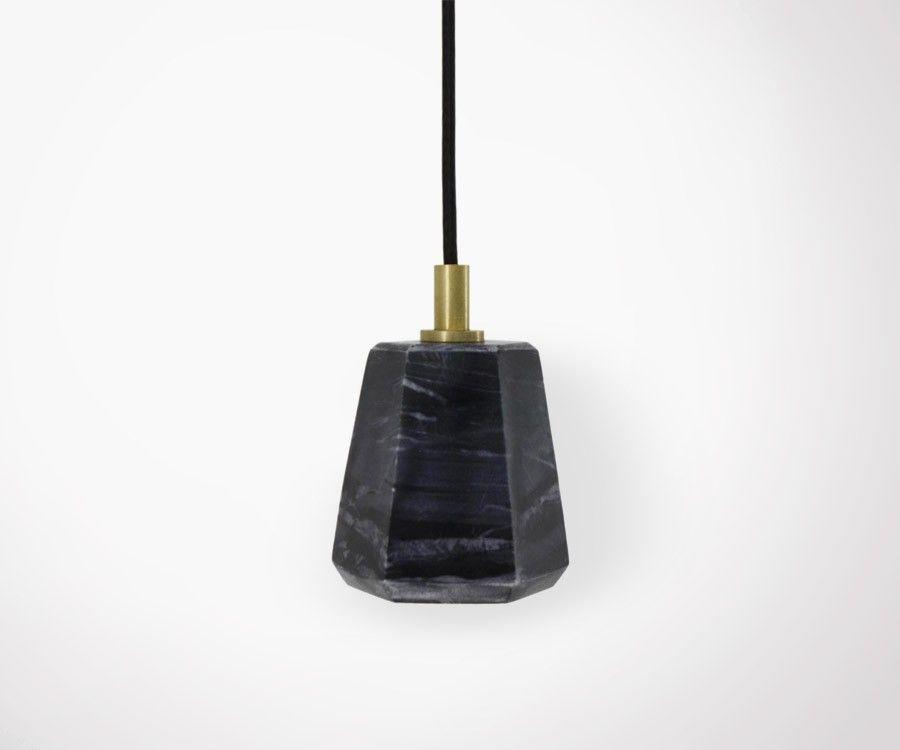 Lampe suspendue JOLINE - marbre noir