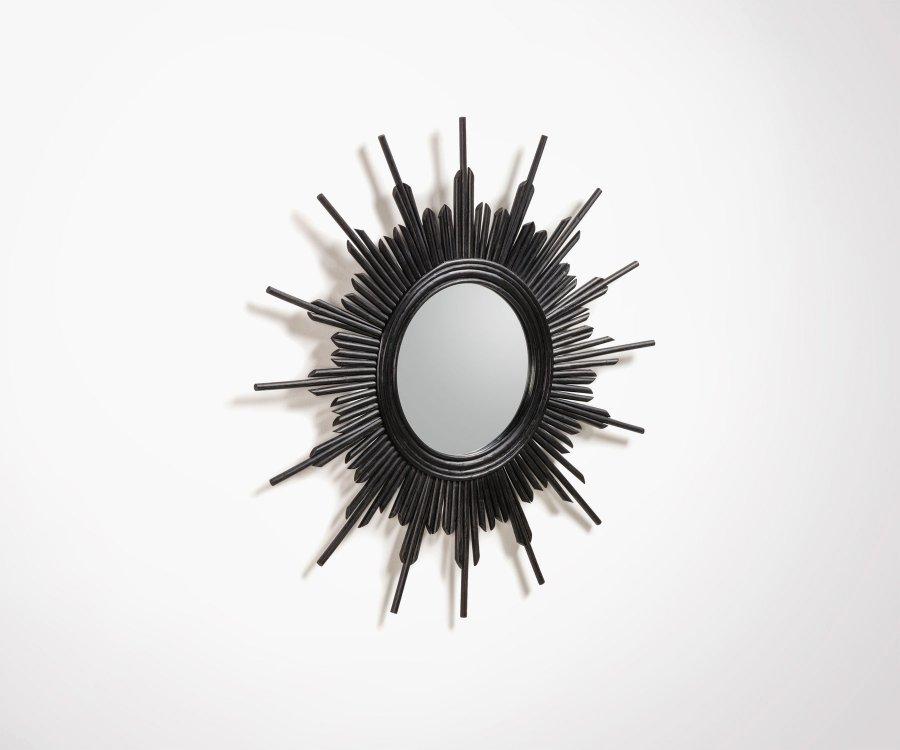 Miroir design rotin 70x70cm BORELI