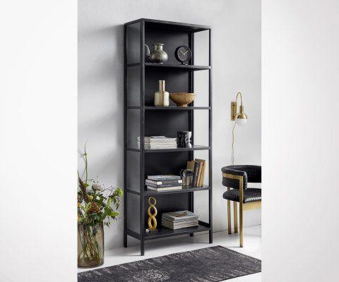 Bibliothèque métallique 214cm BLACK - Nordal