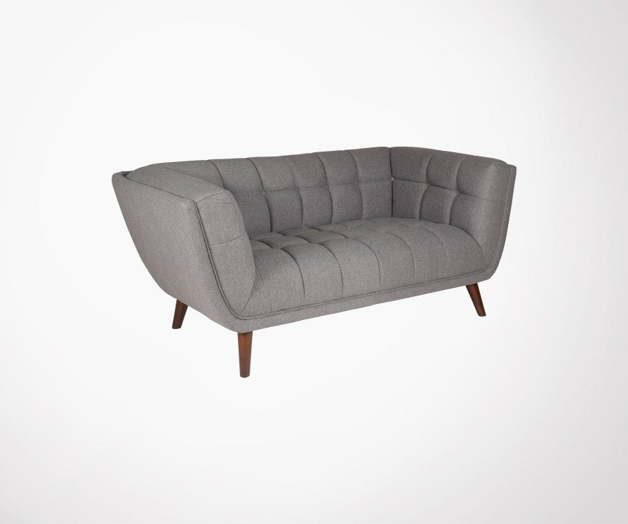 Petit canapé 2 places tissu TALA