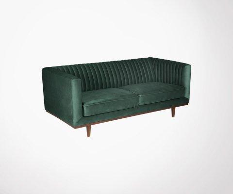 Petit canapé 2 places velours capitonné TAHO