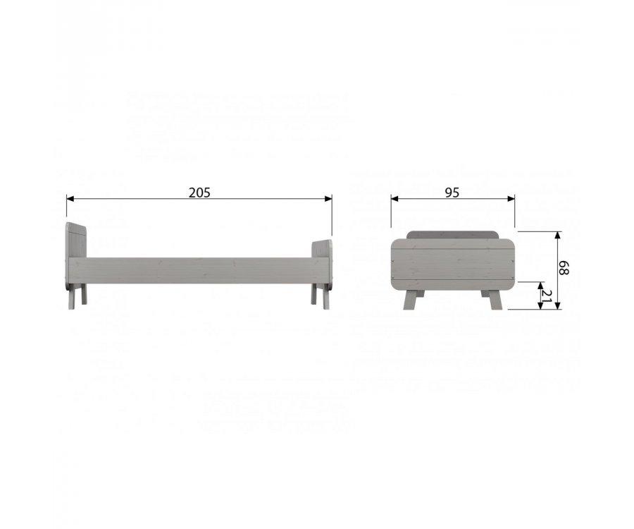 Lit en pin 90x200 cm LEXIA - Woood DHK - 6