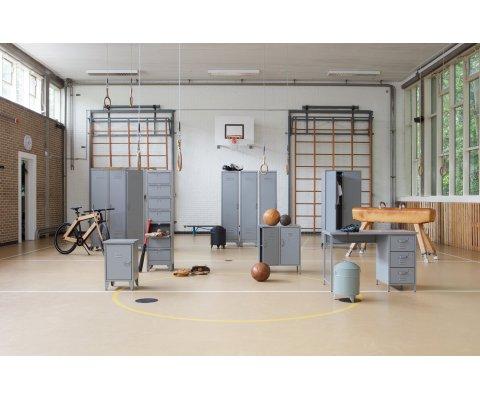 Table de nuit industrielle avec porte ouverture droite MARJOLAINE - Woood DHK - 1