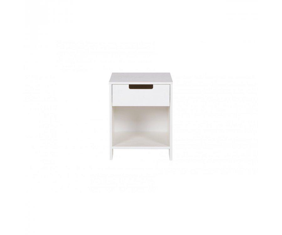 Table de nuit en pin avec tiroir et niche GAETAN - Woood DHK - 1
