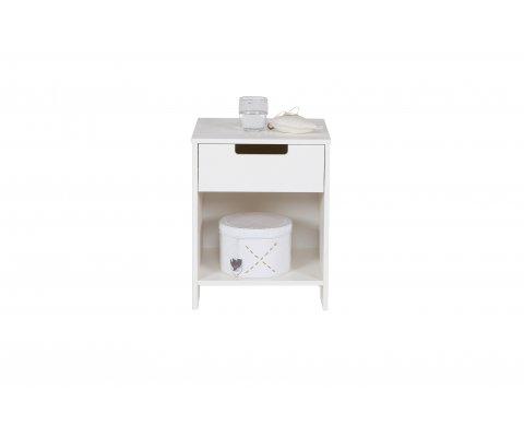 Table de nuit en pin avec tiroir et niche GAETAN - Woood