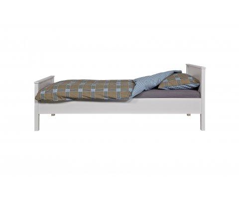Cadre de lit 90x200cm en pin massif blanc ERLAND - Woood