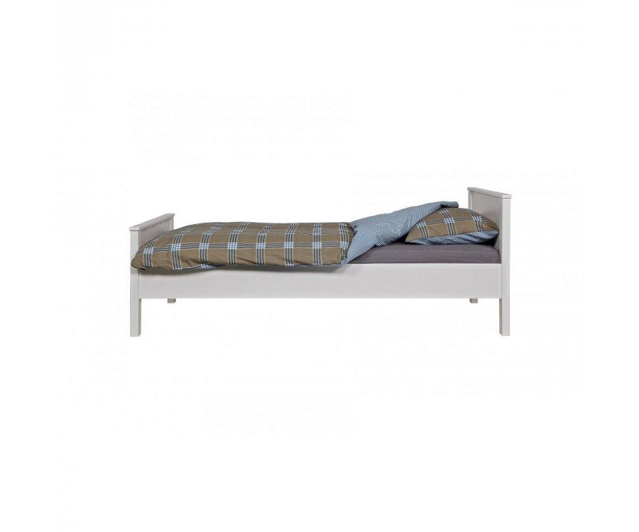 Cadre de lit 90x200cm en pin massif blanc ERLAND - Woood DHK - 1