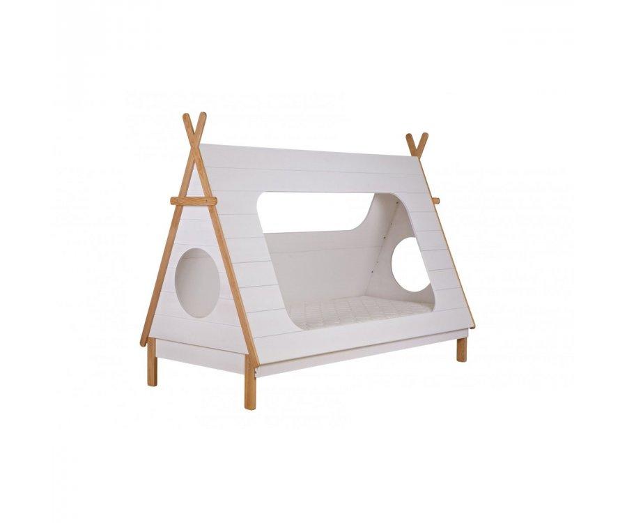 Lit cabane pour enfant bois massif 90x200cm YOLANDA - Woood DHK - 5