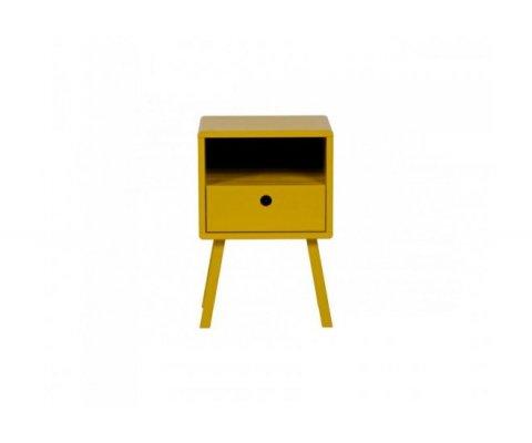 Table de chevet en pin avec tiroir et niche LEXY - Woood