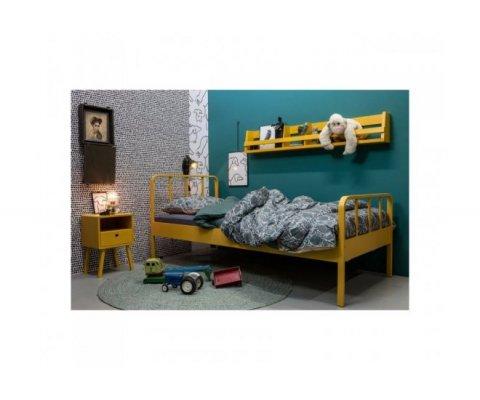 Table de chevet en pin avec tiroir et niche LEXY - Woood DHK - 1