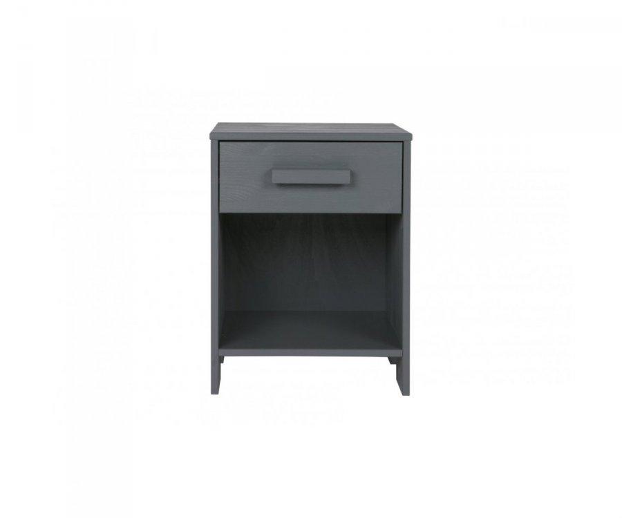 Table de chevet pin tiroir et niche RHAMANTUS - Woood DHK - 6