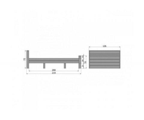Lit en pin 120x200 cm MAUREEN - Woood DHK - 7