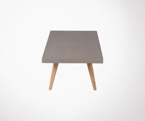 Grande table basse béton bois ALEXIA