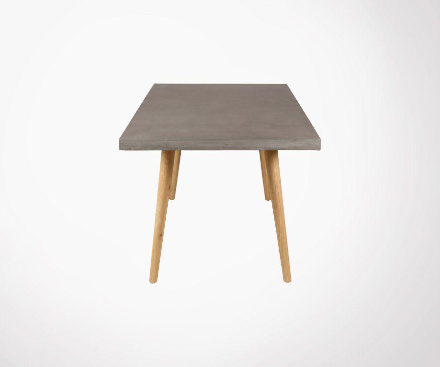 Table à manger 180cm béton bois ALEXIA
