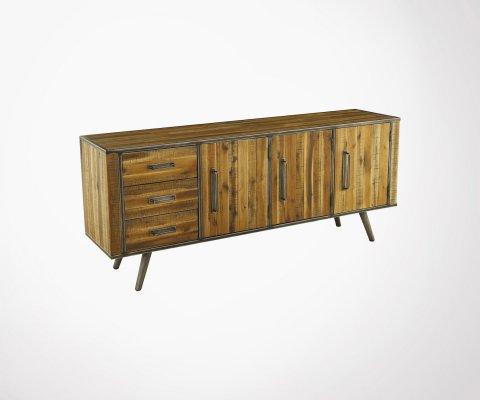 Buffet bas design bois métal 190cm VENA