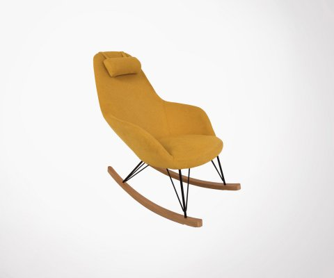 Rocking chair tissu style scandinave TAO