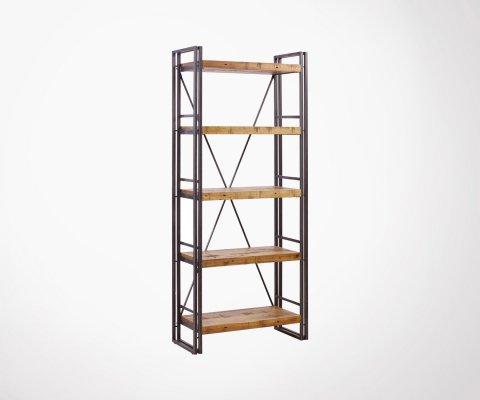 Etagère bois et métal style industriel CALVI