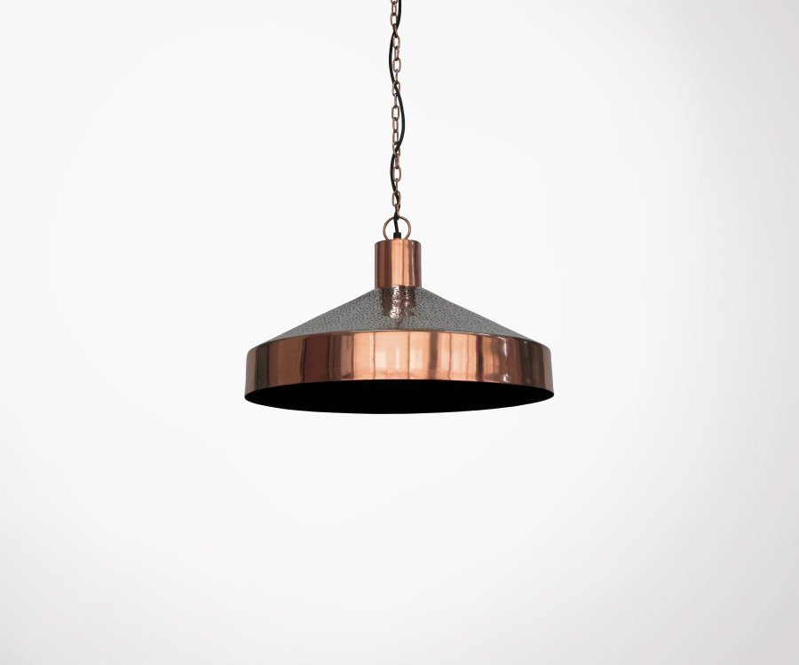 Suspension métal cuivré style vintage ZAO