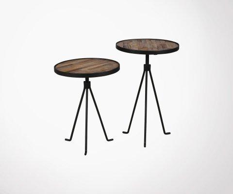 Tables rondes gigognes 38x50cm et 38x60 cm WILO