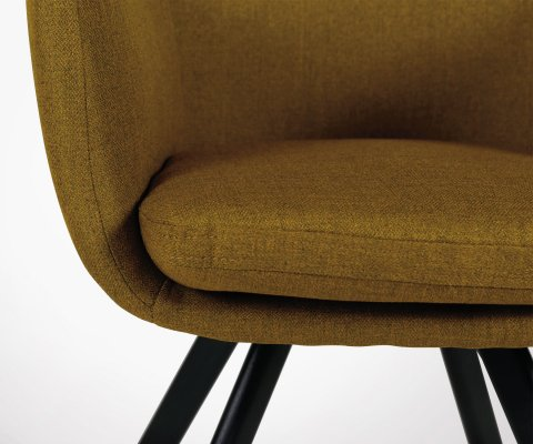 Chaise avec accoudoirs en tissu style vintage MARIO