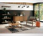 Buffet 3 portes bois et métal vintage ATLAS