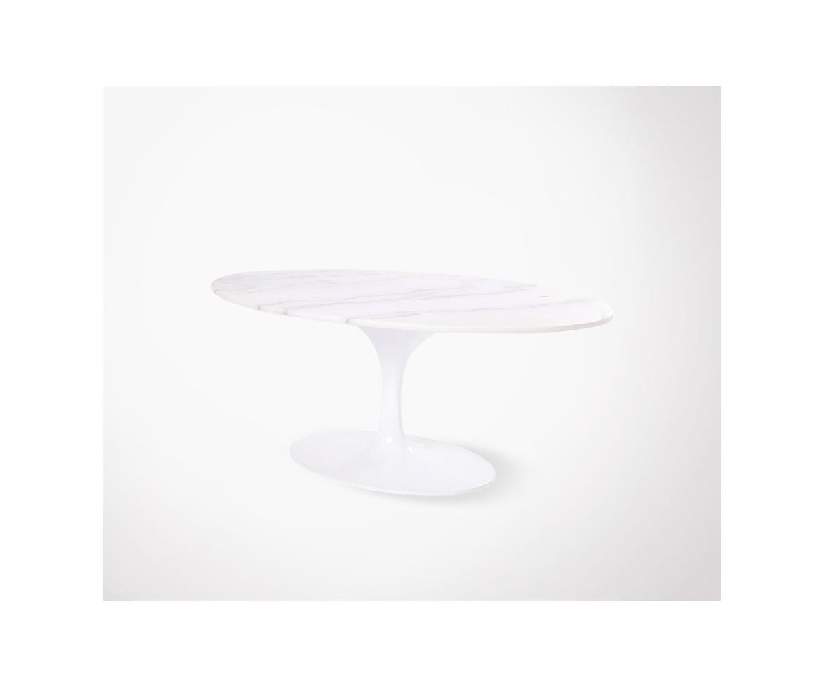 table basse ovale flower plateau en marbre. Black Bedroom Furniture Sets. Home Design Ideas