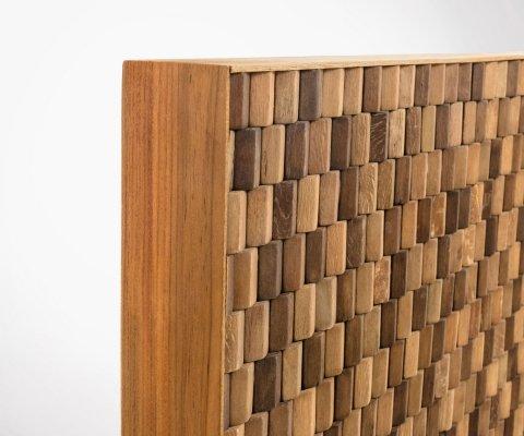 Tête de lit mosaïque bois massif 104x60cm NATAL