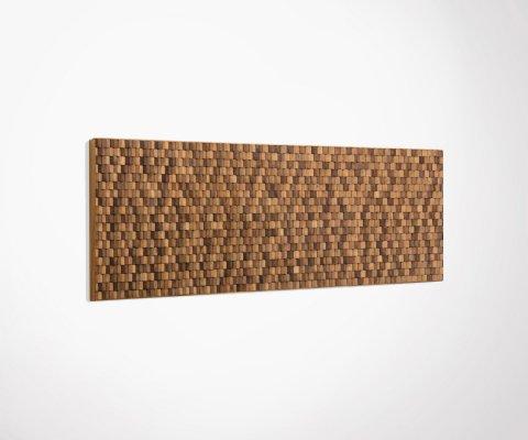 Tête de lit design mosaïque bois 194x60cm NATAL