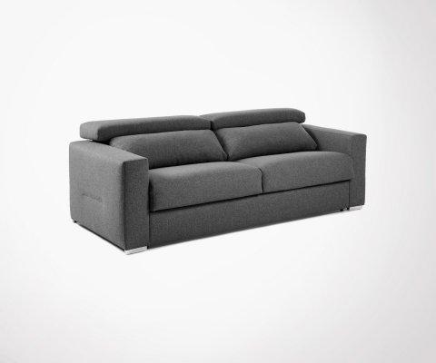 Canapé lit en tissu avec repose-tête NARBONNE