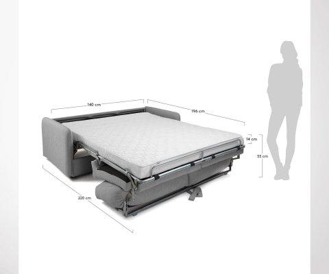 Canapé lit 140cm GAYA