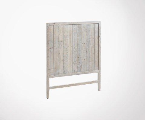 Tête de lit pour matelas 90x190cm bois aspect vieilli DALI