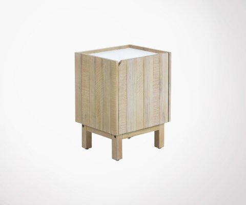 Table de chevet bois acacia avec tiroirs ALIMA