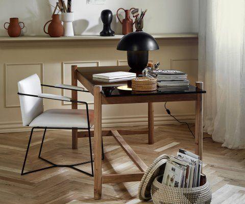 Chaise éco cuir look minimaliste ZES - Nordal