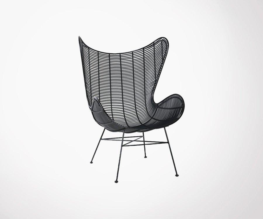 Chaise œoeuf extérieur aspect rotin - COLIO
