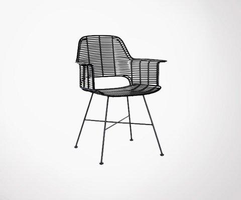 Chaise extérieur aspect rotin - JUNE