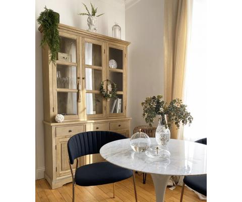 Table FLOWER marbre - 80cm
