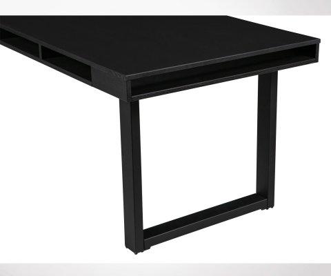Table à manger design bois pieds métal HALLY - Woood