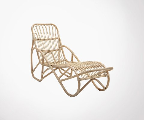 Chaise longue rotin naturel AXELLE - Bloomingville
