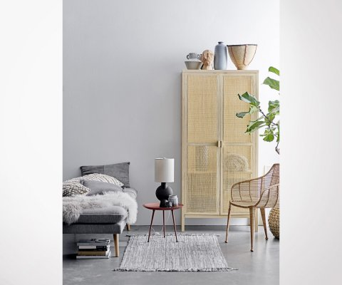 Grande armoire naturelle cannage BAYA - Bloomingville