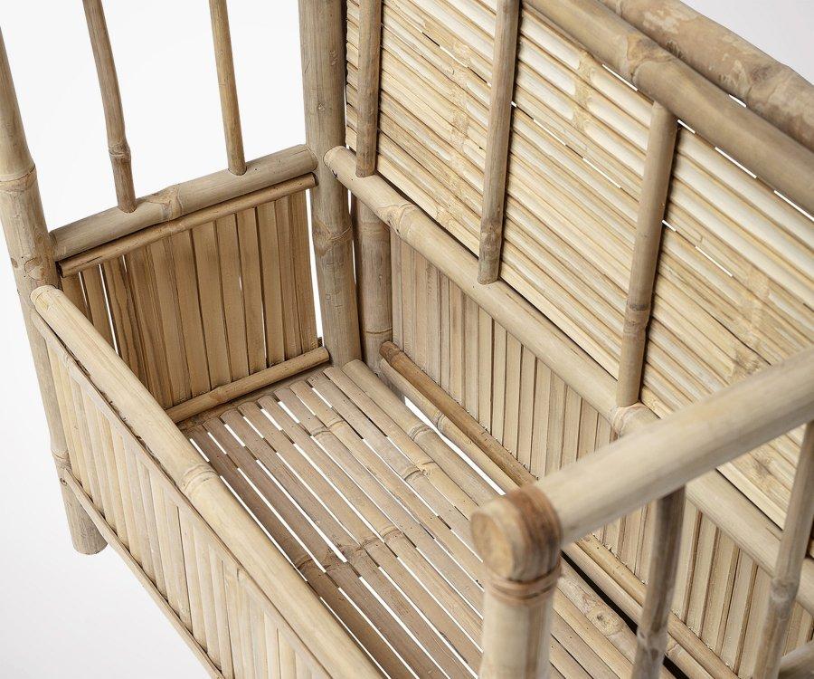 Banc bambou avec rangement style bohème BOBBY - Bloomingville