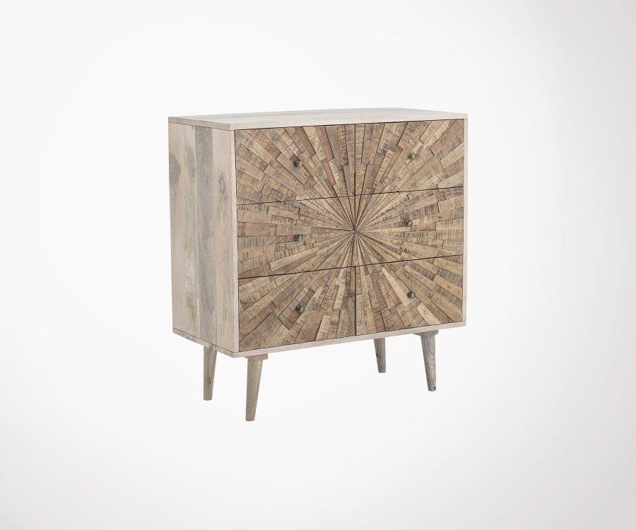 Petit meuble de rangement 6 tiroirs bois DARINE - Bloomingville