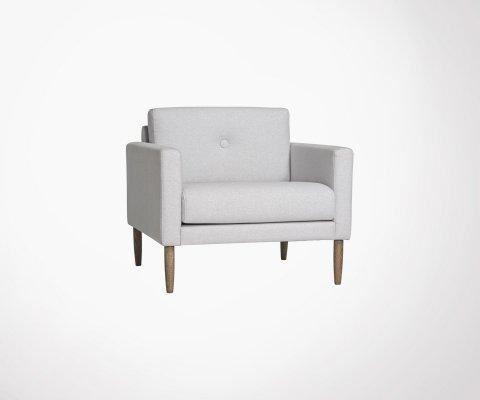 Petit fauteuil lounge moderne en tissu FREYA - Bloomingville
