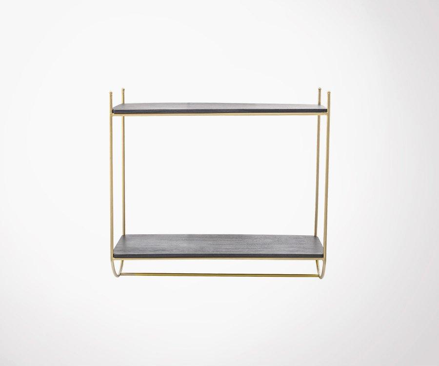 Etagère design métal doré et bois JULIE - Bloomingville