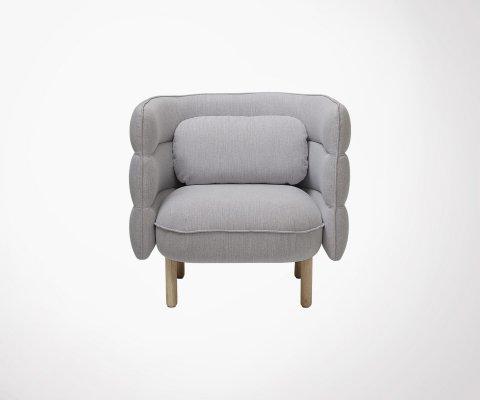 Petit fauteuil vintage en tissu KAYA - Bloomingville