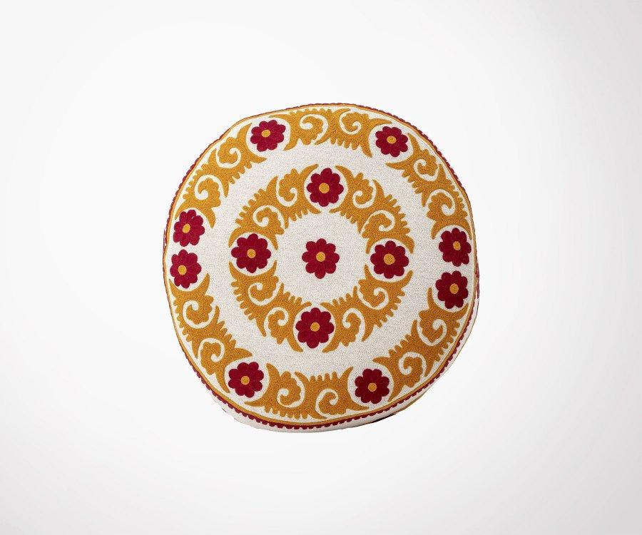 Pouf rond coton à motifs MALIO - Bloomingville