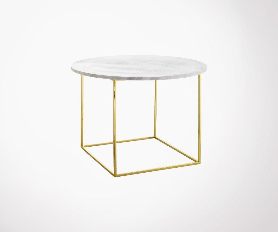 Table D Appoint Design Art Deco Marbre Et Laiton Mel Bloomingville