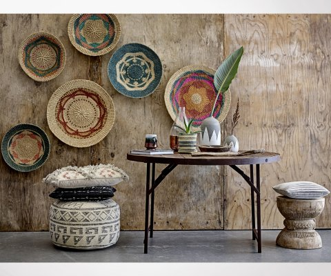 Table ronde métal et bois NILAI - Bloomingville