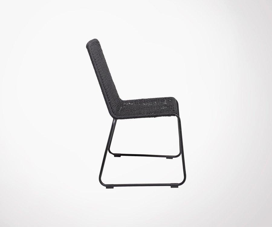 Lot de 2 chaises design extérieur OLI - Bloomingville