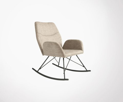 Rocking chair vintage en tissu RIO - Bloomingville