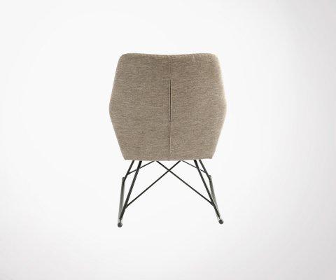 Rocking chair vintage en tissu RIO - Bloomingville